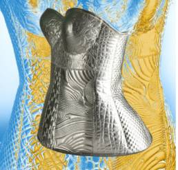 Thermoformage tissus réalisation corset