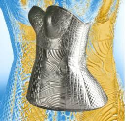 Thermoforming textile achievement corset